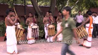 Chenda mela drum beats during Onam celebration - Delhi
