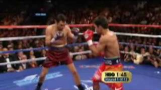 Oscar De La Hoya vs Manny Pacquiao - Round 1 and 2