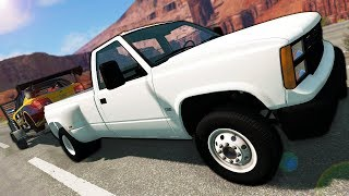 Launching Cars from Trailers During Police Chase! - BeamNG Gameplay \u0026