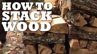 The Best Way To Stack Wood