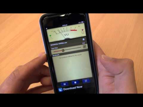 How to record audio using an IPhone with Voice Record Pro