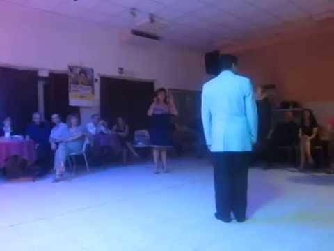 """Alicia Pons Luis Rojas bailan """"vals"""" en Bologna"""