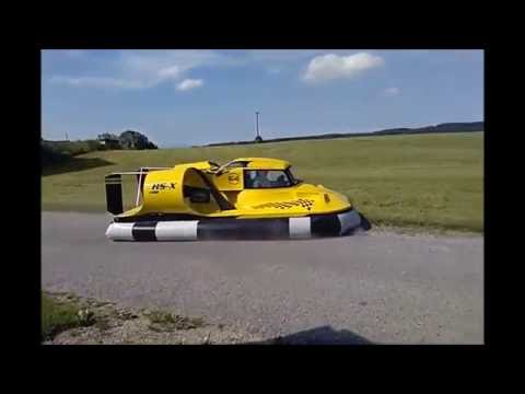 Homemade Hovercraft HS- X first test