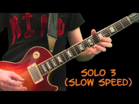 Slash Lesson – Locomotive (Riff + all solos)