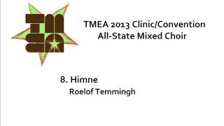 tmea all state mixed choir 2013 himne