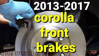 13 - 17 toyota corolla front brakes