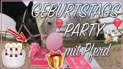 GEBURTSTAGSPARTY MIT PFERD ♥ Pferdetorte Einladungskarte Geschenk