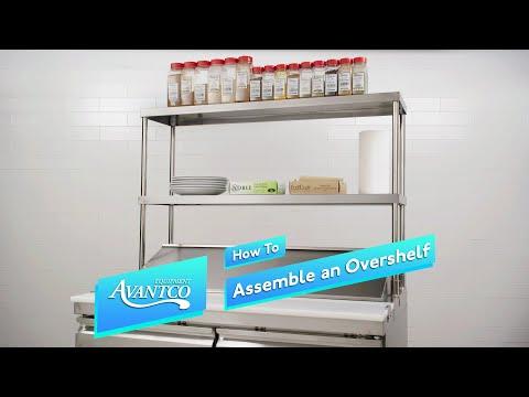 How To Assemble An Avantco Prep Table Overshelf