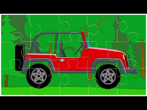 Мультфильм для детей - Пазл с машинками - Вездеходы - серия 8