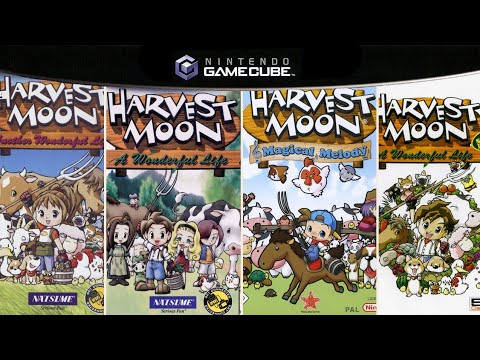 All Harvest Moon Games in Gamecube