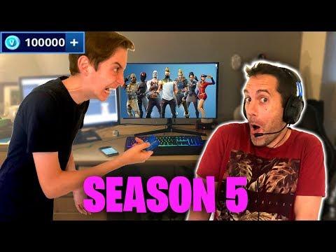 Crazy Dad spends £1000 on Fortnite Season 5!! (Prank Gone Wrong!) 😂