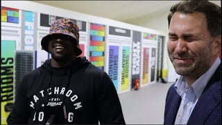 'YOU ARE F******** GRIM YOU ARE' - DILLIAN WHYTE TAUNTS EDDIE HEARN, PAIR DISCUSS TYSON FURY & RUIZ