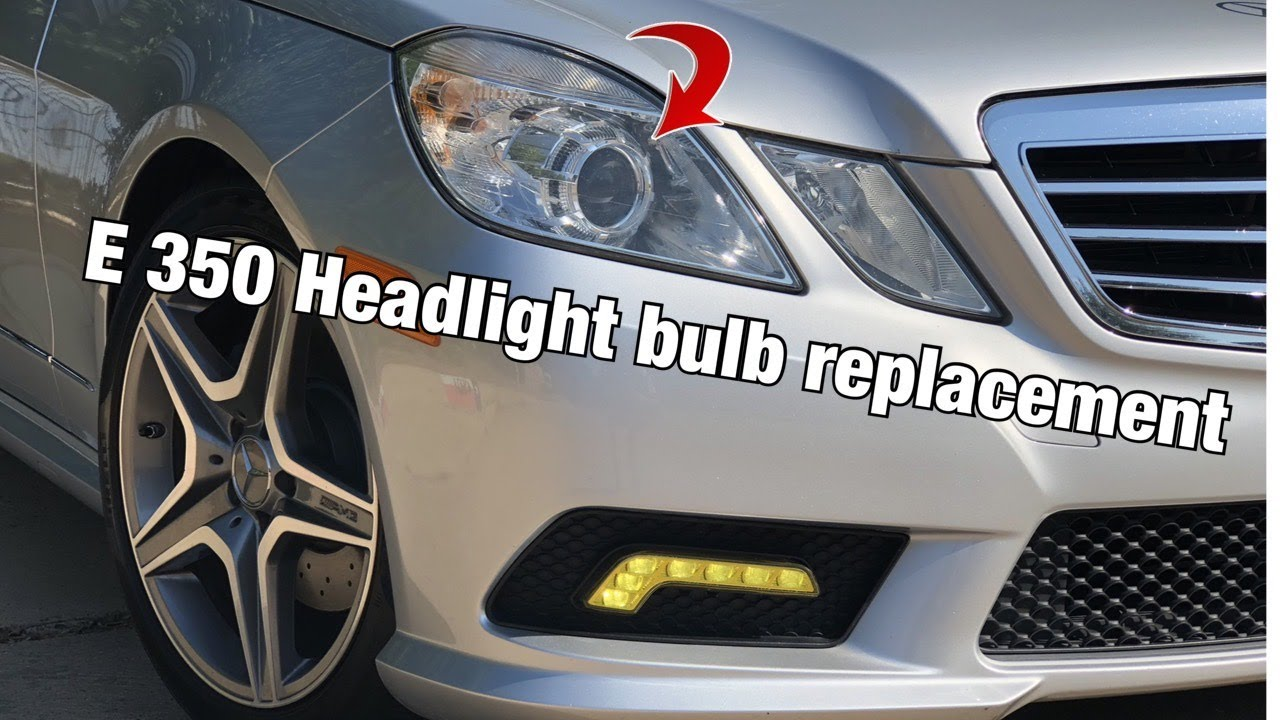 how to change headlamp bulbs in your mercedes e class - youtube