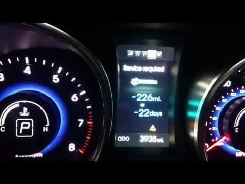 How To Reset Service Required Light 2014 Hyundai Santa