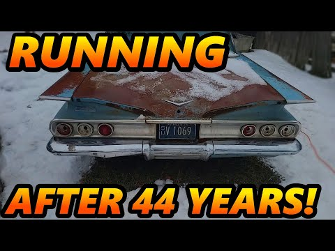 1960 Impala SAVED From a Forgotten Field! RUNNING After 44 Years! (Will it Run)