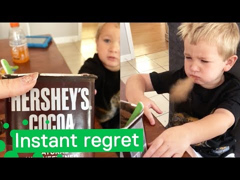 The River Morning Show - WATCH: The Look on This Poor Kid's Face When He Tries Cocoa Powder