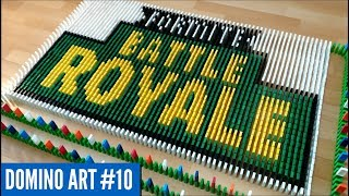 FORTNITE BATTLE ROYALE ART MADE FROM 9,100 DOMINOES | Domino Art #10