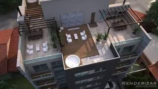 VIDEO ANIMACION 3d - Edificio INIZIO luxury (RENDERIZAR ARQUITECTURA)