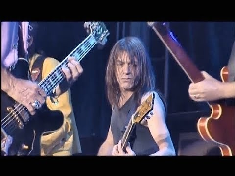 AC/DC Malcolm Young (Died RIP) Rolling Stones and Angus Young Live Jam