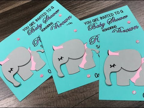Baby Invitations With The Cricut Maker