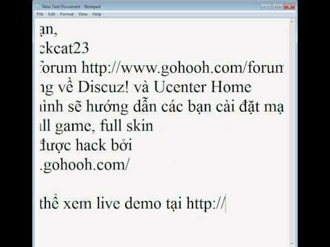GoHooH.CoM hướng dẫn cài đặt Ucenter Home GoHooH Full part 1.avi