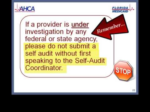 Medicaid Provider Compliance Program and Provider Self Audits, Fraud Prevention and Compliance Unit