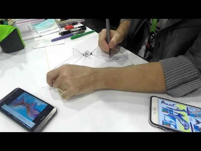 Shinji Nishikawa Draws Eternal Mothra NYCC2015