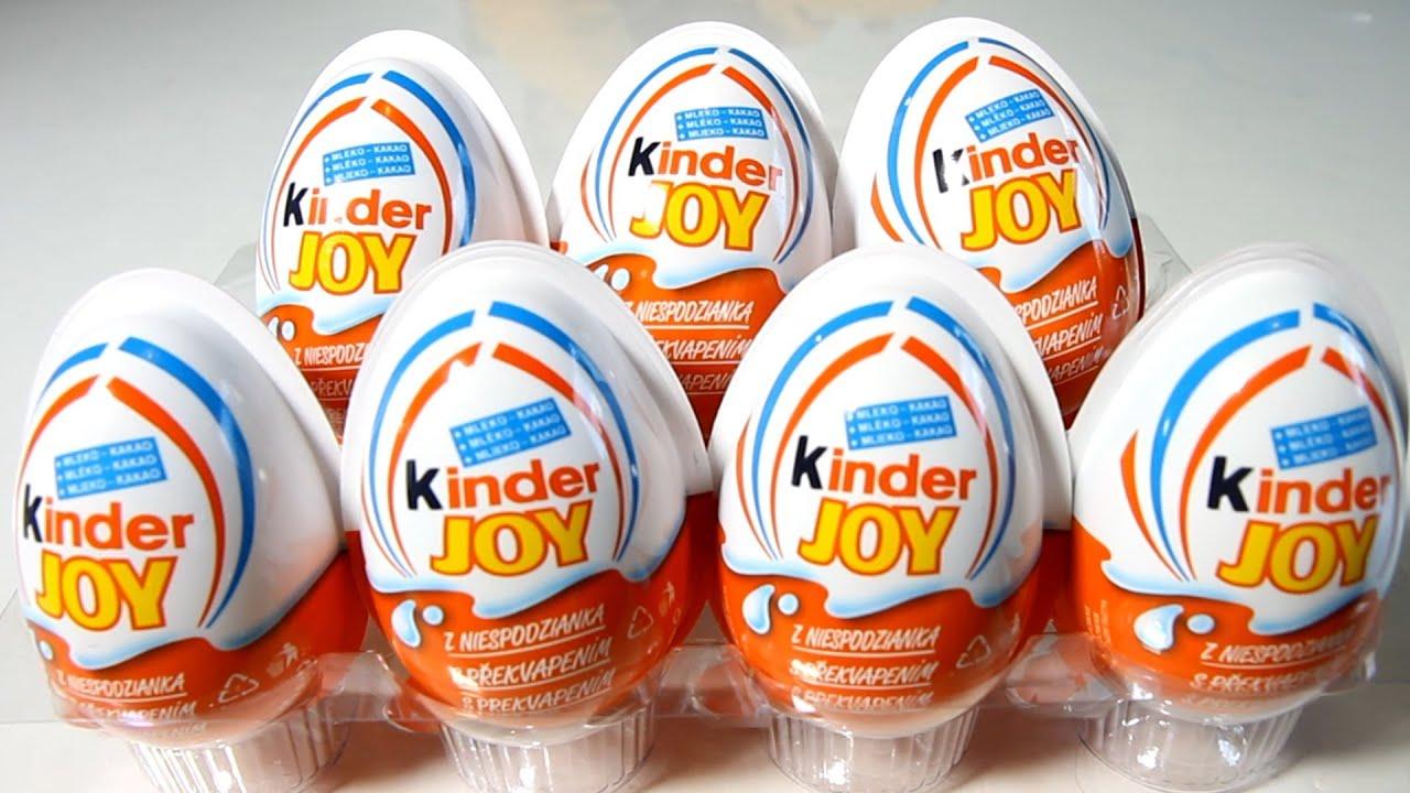 7x Kinder Joy Surprise Eggs - YouTube