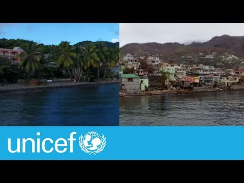 Before & after: Devastating drone footage of hurricane hit Dominica | UNICEF