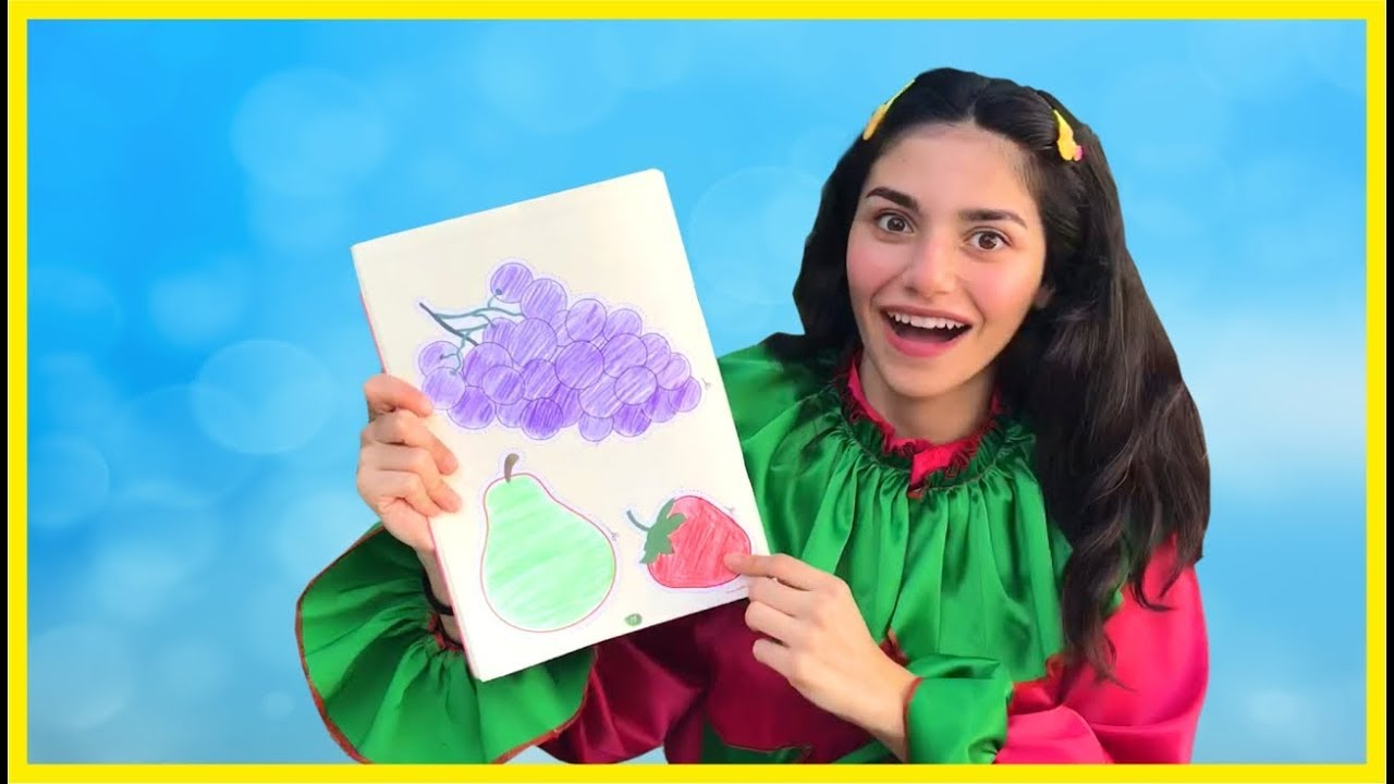 Renkli Meyve Boyama Yaptik Okul Oncesi Resim Boyama Cocuklar