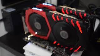 Mining Ethereum Very Profitable | AMD RX 580 8 GB GAMING X (2 GPU ) | TOTAL HASH POWER 53.07  MHS