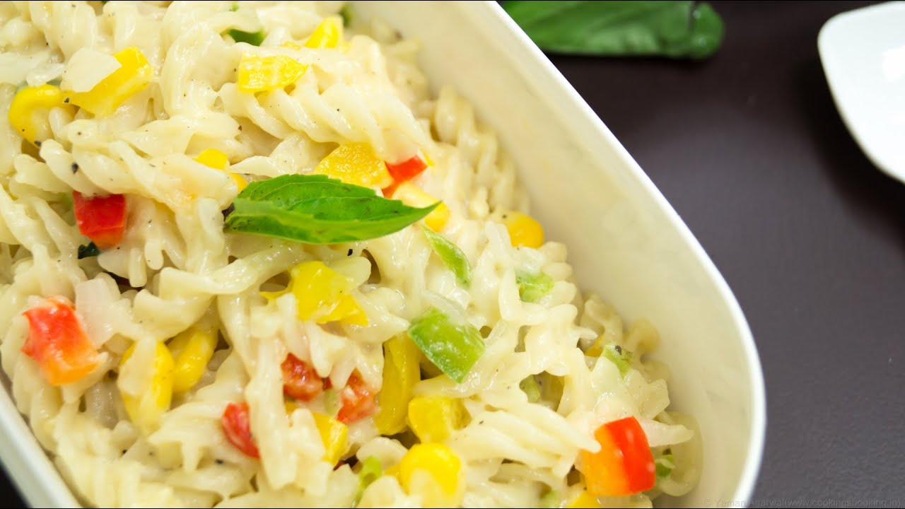 Pasta in white sauce quick easy indian style kids lunch box pasta in white sauce quick easy indian style kids lunch box special youtube forumfinder