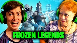 Grandma Plays Fortnite! (Frozen Legends Pack)