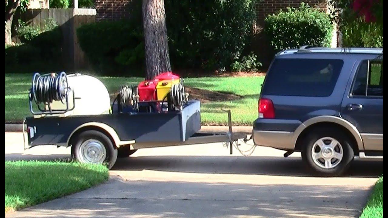 Pressure washing trailer set up custom diy youtube malvernweather Choice Image