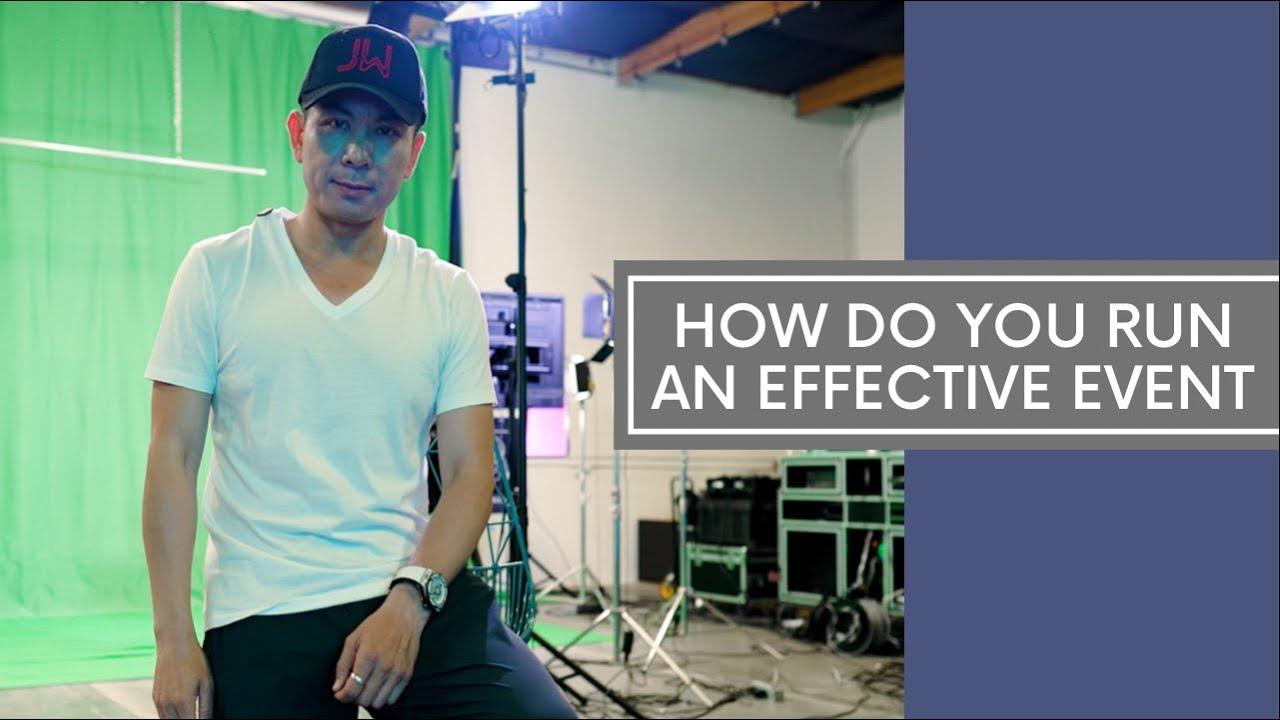 How Do You Run An Effective Event