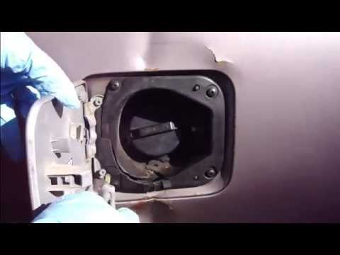 How to replace fuel tank cover plate Toyota Camry - YouTube