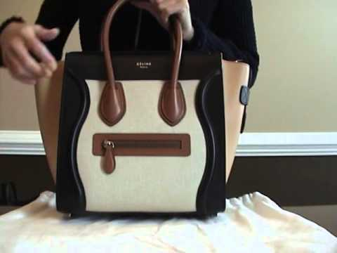 9686955ef3 Celine Micro Luggage Tote Bag Review - YouTube