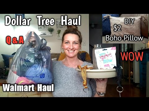 Dollar Tree Haul/ $2 Boho DIY/ Ideas/ Walmart Haul/ Q& A/ 1-11