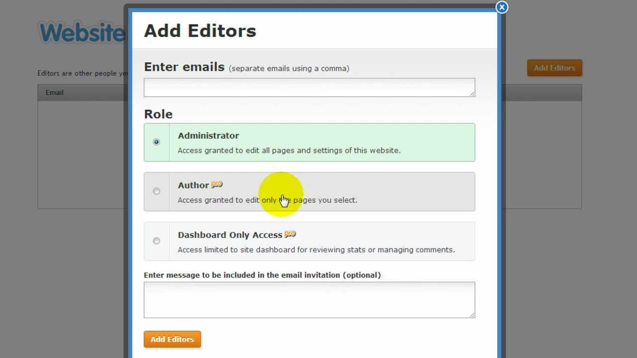 How to Add / Invite Weebly Editors (Administrator, Author) - (by  www WebsiteBuilderExpert com)