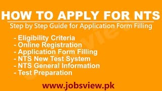 How to Apply for NTS Test Preparation Sample Paper Step by Step Guide - JobsView pk