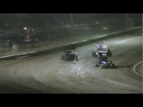 4-7-13 sprint car A feature creek county speedway following #17 Brent Bates