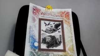 """Вышивка крестом.""""Летающий кот""""от Алисены.Сп """"Мои любимые коты"""""""