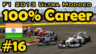 F1 2013 100% Race Ultra-Mod Career - Indian Grand Prix