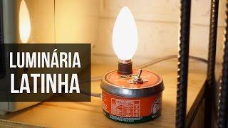 Como fazer uma Luminária com Latinha de Manteiga