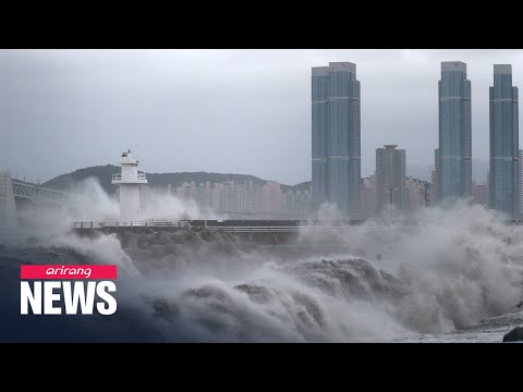 Typhoon Haishen approaching S. Korea's east coast