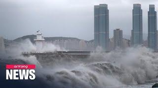 Typhoon Haishen approaching S. Korea's east coast