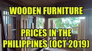 Wooden Furniture Prices In The Philippines. (oct 2019)