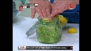 """طريقة تخليل """"الزيتون التفاحي"""" من الشيف حسن"""