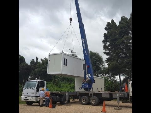 China Flat pack container house for Accommodation and office to Africa