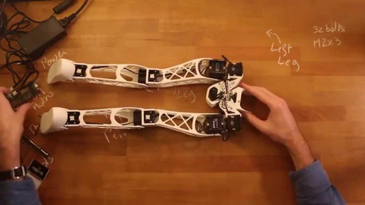 Poppy lightweight biped legs 2/2: Final assembly